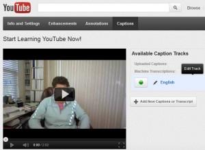 YouTube Closed Caption